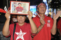 Red Shirts Protest in Central Bangkok Stock Photos