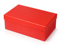 Red shoe box isolated on white Royalty Free Stock Photo
