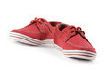 Red shoes sneakers on white Royalty Free Stock Images
