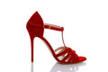 Red shoes for women Royalty Free Stock Photo