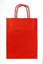 Red shopping bag. Stock Photos