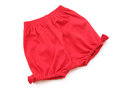 Red short pant a color isolated on white Royalty Free Stock Photography