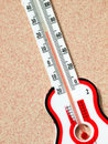 Red shows 23 degrees thermometer Royalty Free Stock Photo