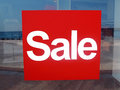 Red signboard sale Stock Photography