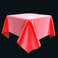 Red Silk Cloth On The Object O...