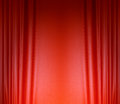 Red silk curtain background Royalty Free Stock Image