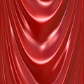 Red Silk Drapery Curtain Texture Stock Photos
