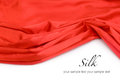 Red silk fabric background with copyspase Royalty Free Stock Photo