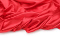 Red silk fabric background curtain Royalty Free Stock Photography