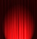 Red silk fabric curtain background Royalty Free Stock Photos