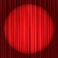 Red silk curtain background Royalty Free Stock Photo