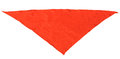 Red silk triangular neckerchief isolated on white background Royalty Free Stock Photos