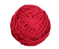 Red skein over white Royalty Free Stock Photo