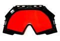 Red ski goggles Stock Photos