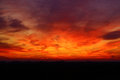 Red sky at sunset Royalty Free Stock Photo