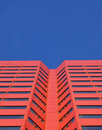 Red skyscraper in edmonton Stock Images