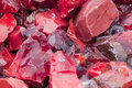Red Slag Glass Stock Image