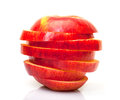 Red Sliced Apple Royalty Free Stock Photo