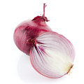 Red sliced onion isolated on white background Stock Image