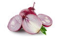 Red sliced onion isolated on white background Royalty Free Stock Photography