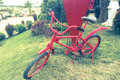 Red small bike for child