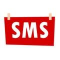 Red SMS Sign - illustration