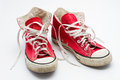 Red sneakers Royalty Free Stock Photo