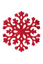 Red snowflake on  white background Stock Images