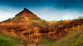 Red soil of gongoni west benga india called grand canyon bengal gorge Stock Photos
