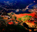 Red soil of Yunnan Province Stock Photo