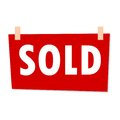 Red Sold Sign - illustration on white background