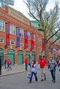 Red sox fans near fenway park on april in boston usa apr is the oldest professional sports venue the united Stock Photos