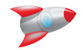 Red space rocket a d looking cartoon Royalty Free Stock Photography