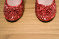 Red sparkly shoes Royalty Free Stock Photo