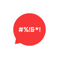 Red speech bubble with abstract swearing Royalty Free Stock Photo