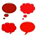Red speech bubbles Royalty Free Stock Images