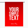Red speech flag modern design template for text or information vector Stock Photo