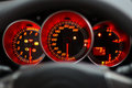 Red speedometer Stock Photo