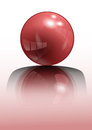 Red sphere d vector illustration can be used and modified for web designs advertisements and many more Stock Images