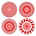 Red spirograph ornament tattoo Royalty Free Stock Photo