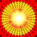 Red spirutal sun background Stock Images