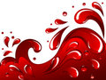 Red splash Stock Photography