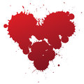 Red splash heart Royalty Free Stock Images