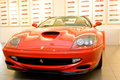 Red sport car Ferrari Stock Photo