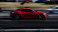 Red sports car. Subaru BRZ