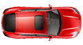 Red sports car top view on a white background Royalty Free Stock Images