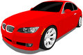 Red sports car a vector eps illustration of a saved in layers for easy editing see my portfolio for more automotive images Royalty Free Stock Photography