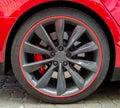 Red Sports Car Wheel.