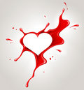 Red spray paint and heart Royalty Free Stock Images