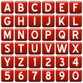 Red Square Alphabet Buttons Royalty Free Stock Photography